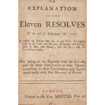 Lot 60 - Politics, 1689-1712: a collection of 16 pamphlets in one volume