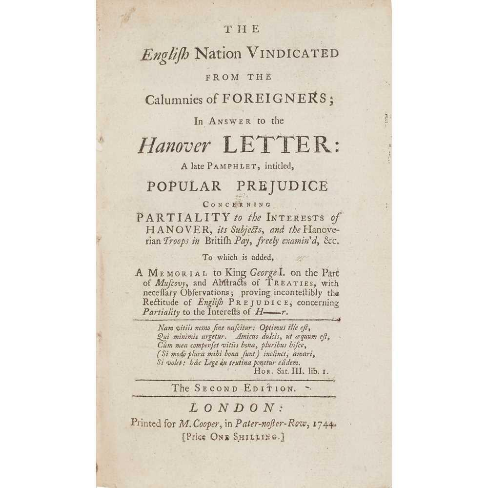 Lot 59 - Politics, 11 mid 18th century pamphlets