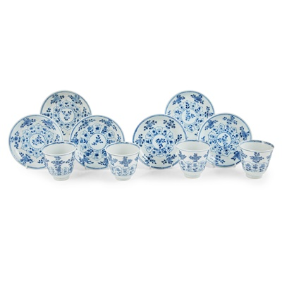 Lot 99 - (A PRIVATE SCOTTISH COLLECTION, LOT 98-101) GROUP OF TEN BLUE AND WHITE WARES