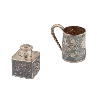 Lot 28 - TWO CHINESE EXPORT SILVER WARES