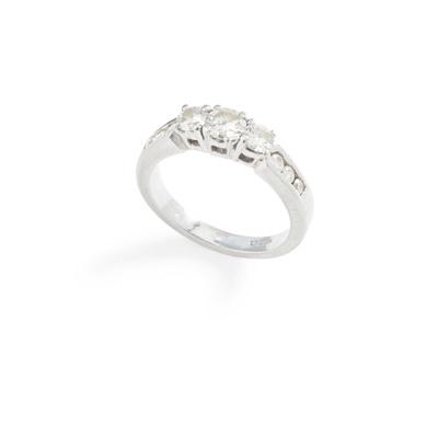 Lot 98 - A diamond three-stone ring