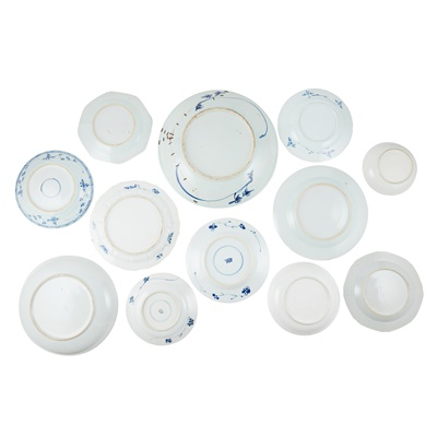 Lot 149 - GROUP OF TWELVE BLUE AND WHITE PLATES AND CHARGERS