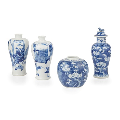 Lot 113 - GROUP OF FOUR BLUE AND WHITE WARES