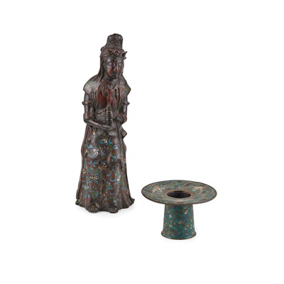 Lot 205 - TWO JAPANESE BRONZE WARES