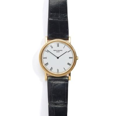 Lot 146 - Patek Philippe: a Calatrava wrist watch