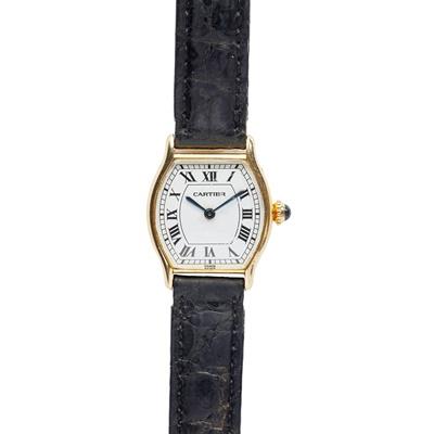 Lot 150 - Cartier: a Tortue wrist watch