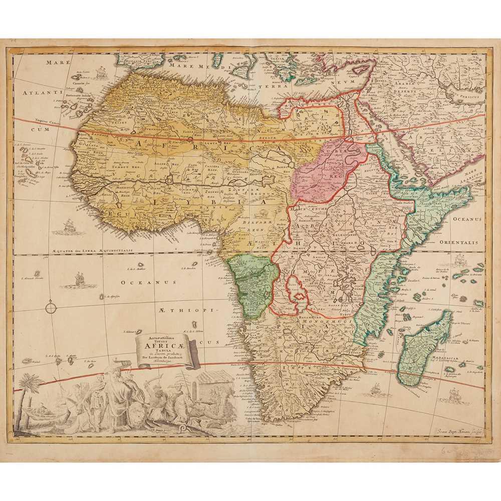 Lot 18 - [Map of Africa] Sandrart, Jacob von