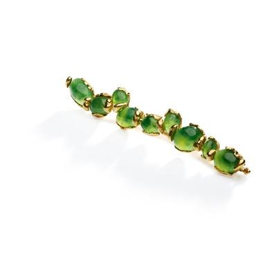Lot 84 - A nephrite jade brooch, by John Donald, 1977