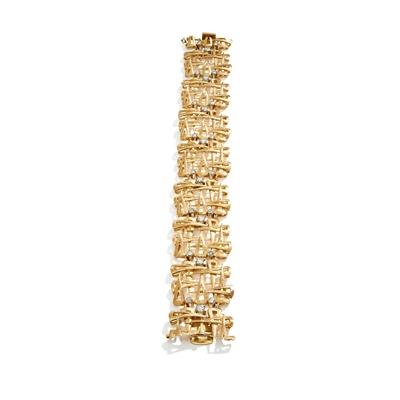 Lot 90 - A diamond-set bracelet, circa 1965