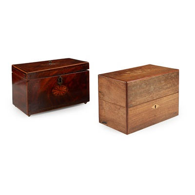 Lot 37 - A VICTORIAN ROSEWOOD AND INLAID TEA CADDY