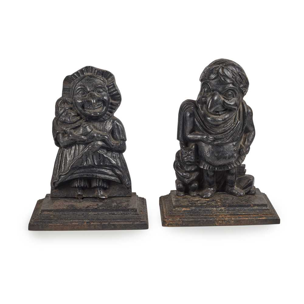 Lot 4 - PUNCH AND JUDY CAST IRON DOOR STOPS