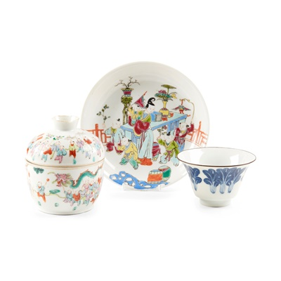 Lot 104 - COLLECTION OF THREE PORCELAIN WARES