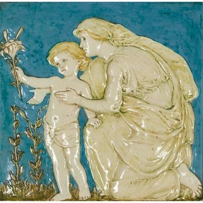 Lot 213 - ELLEN MARY ROPE (1855- 1934) (DESIGNER) FOR DELLA ROBBIA POTTERY, BIRKENHEAD