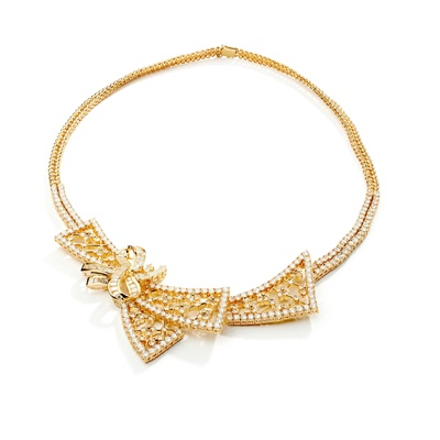 Lot 121 - A diamond necklace