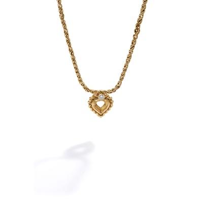 Lot 115 - A diamond-set pendant mount