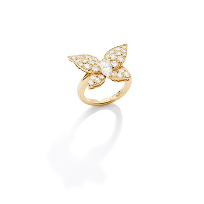 Lot 128 - A diamond butterfly ring, by Van Cleef & Arpels