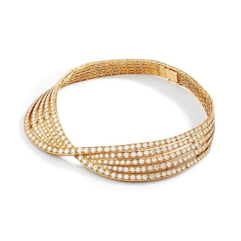 Lot 131 - An impressive diamond necklace, by Van Cleef & Arpels
