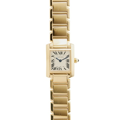 Lot 153 - Cartier: a Tank Francaise wrist watch