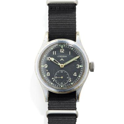 Lot 154 - Lemania: a 'Dirty Dozen' military issue wrist watch