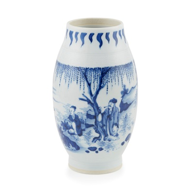 Lot 134A - BLUE AND WHITE BALUSTER VASE