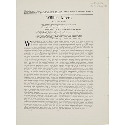 Lot 133 - WILLIAM MORRIS (1834-1896) FOR MORRIS & CO.