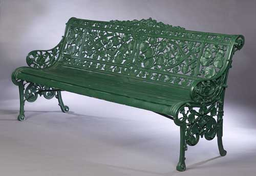 Magnificent Lot 372 A Coalbrookdale Wrought Iron Garden Bench Ibusinesslaw Wood Chair Design Ideas Ibusinesslaworg