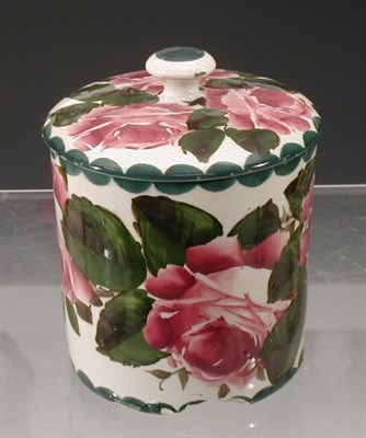 Lot 72 - A Wemyss 'Roses' biscuit barrel and cover, of...