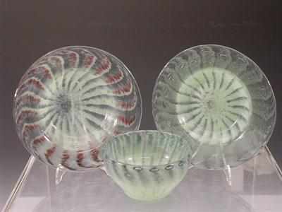 Lot 26 - A Vasart glass part dessert set, comprising...