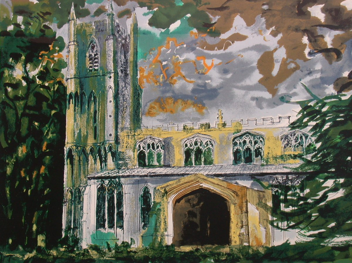 Lot 104-JOHN PIPER CHURCH TOWER Signed, pencil and...