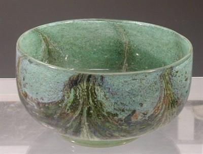 Lot 18 - A rare Monart stoneware bowl, of circular form...