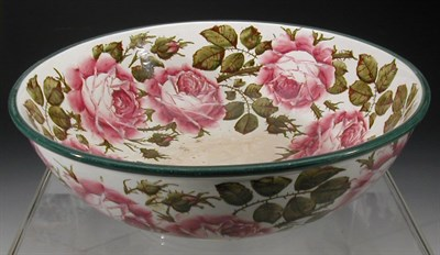 Lot 69 - A Wemyss 'Roses' basin, of circular form...