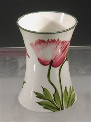 Lot 86 - A Wemyss 'Poppy' beaker vase, painted with...