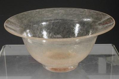 Lot 4 - A Monart circular glass bowl, with flaring rim...