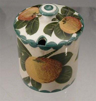 Lot 66 - A Wemyss 'Oranges' preserve jar and cover,...