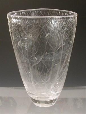 Lot 57 - A Kosta glass vase designed by Vicke...