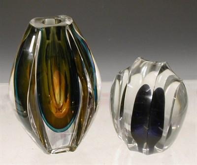 Lot 54 - A Kosta clear glass vase, of teardrop outline...