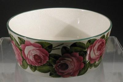 Lot 88 - A large Wemyss 'Roses' circular bowl, painted...