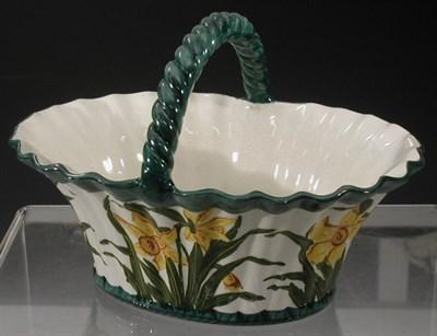 Lot 63 - A Wemyss 'Daffodils' basket, with frilled rim...