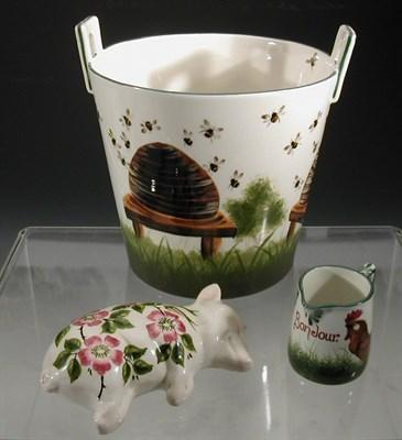Lot 93 - A Griselda Hill pottery tub flower pot,...