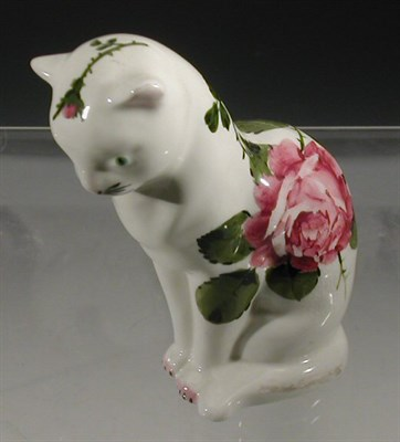 Lot 91 - A Plichta figure of a cat, painted with...