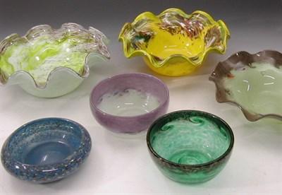 Lot 37 - Six Strathearn glass bowls, three of circular...