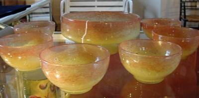 Lot 29A - A Vasart glass dessert service, comprising a...