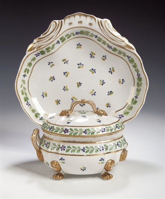 Lot 61 - A Derby fruit service, painted with all over...