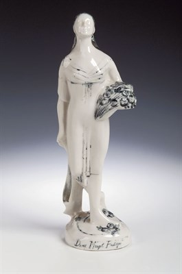 Lot 96 - A cast china figure of Dame Margot Fontaine,...
