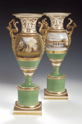 Lot 88 - A pair of Grainger's Worcester twin handled...