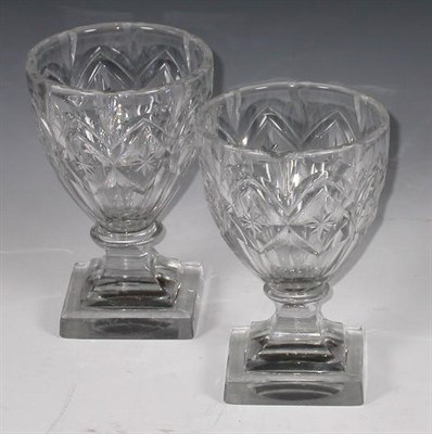 Lot 52 - A pair of Regency wine glasses, the bell...