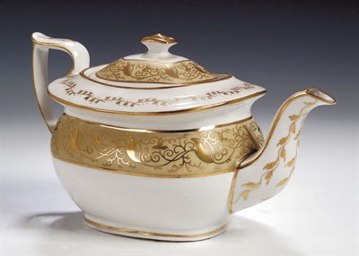 Lot 76 - An English china part tea and coffee service,...