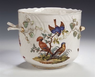 Lot 82 - A Dresden twin handled jardinière, with...