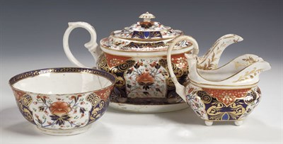 Lot 66 - An extensive composite Derby tea and coffee...