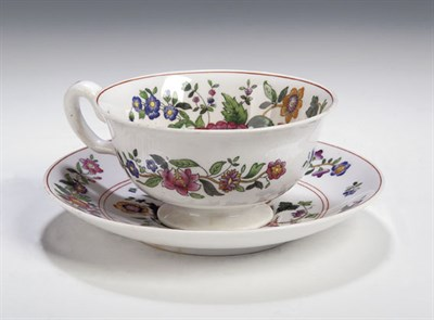 Lot 65 - A Copeland Spode breakfast set, with floral...